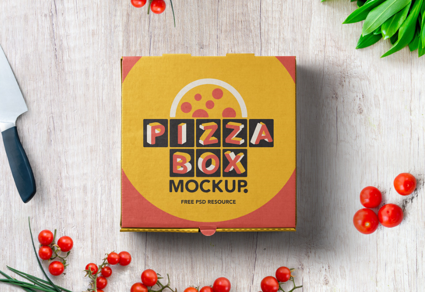 30  pizza box packaging psd mockup templates