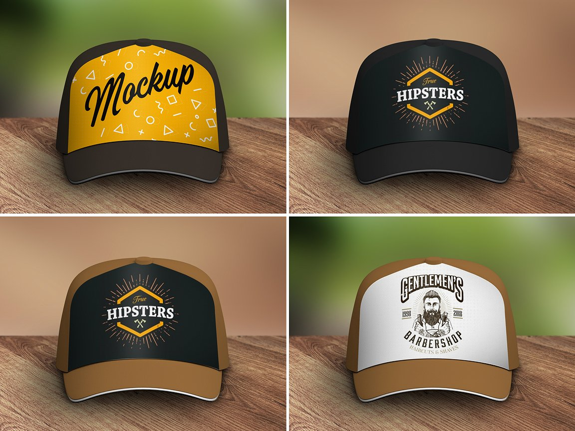Puff Embroidery Hat Mockup