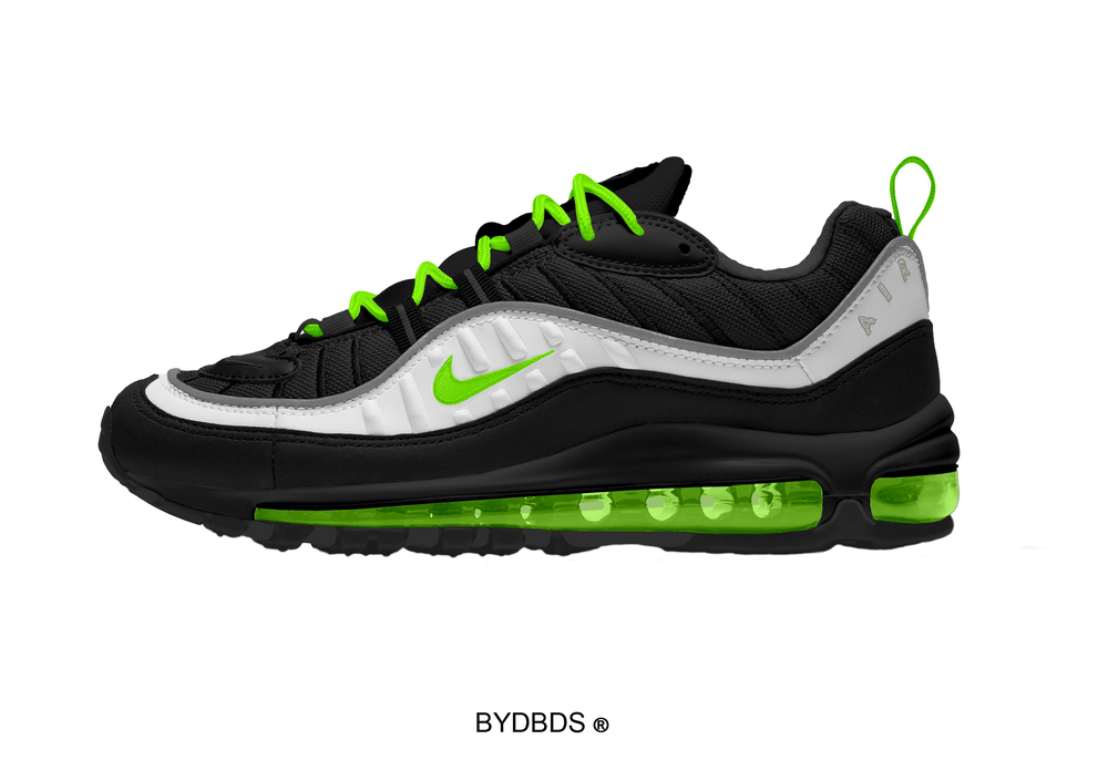 newest 3396d 9a4ef Nike Air Max 98 PSD Template Mockup
