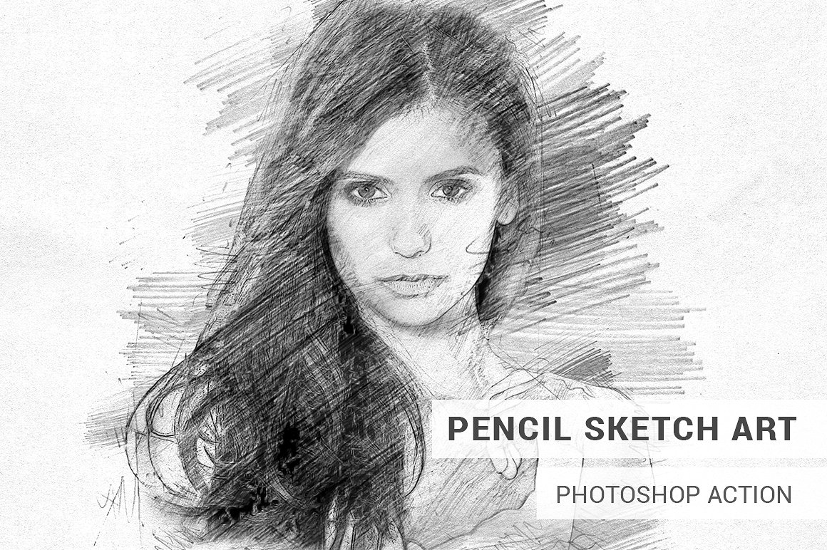 Pencil sketch art photoshop action turns your photo into a masterpiece of a pencil sketch art save hours of work with this action