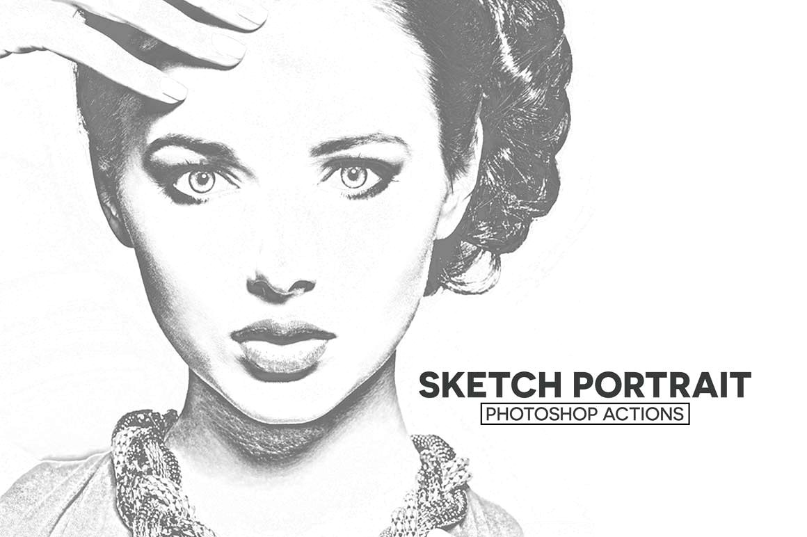 Introducing sketch portrait photoshop actions that is a great portrait actions which generates professional sketch effect in few clicks