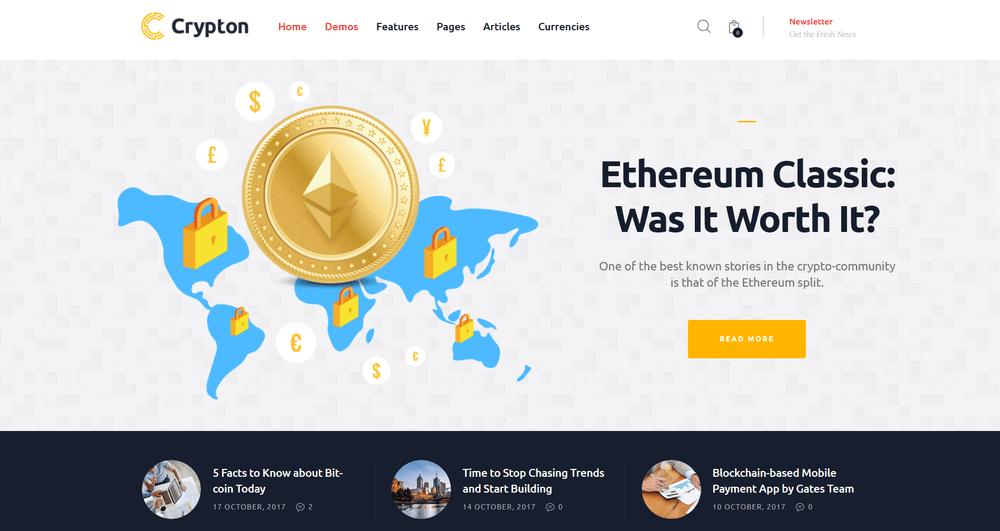 30+ Superior Bitcoin & Crypto Currency WordPress Themes 2019