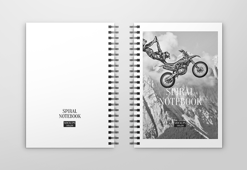 40  charming spiral notebook mockup templates
