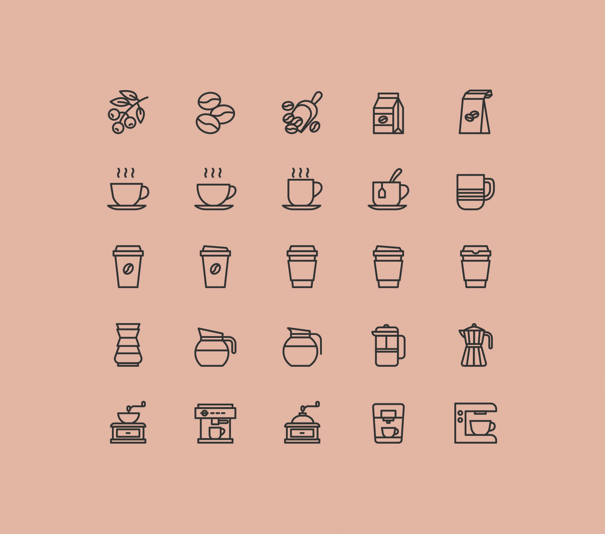 35+ Best Bakery & Coffee Shop Icons | Decolore Net