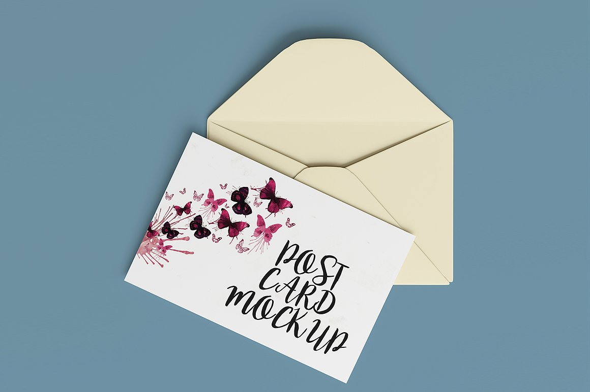 35 Awesome Postcard Psd Mockup Templates Decolore Net