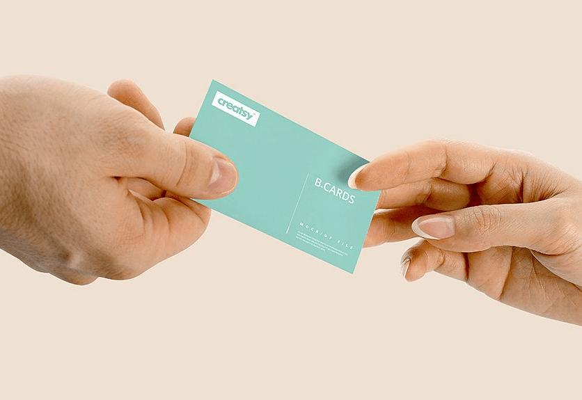 35 realistic business card in hand mockups decolore pin it colourmoves