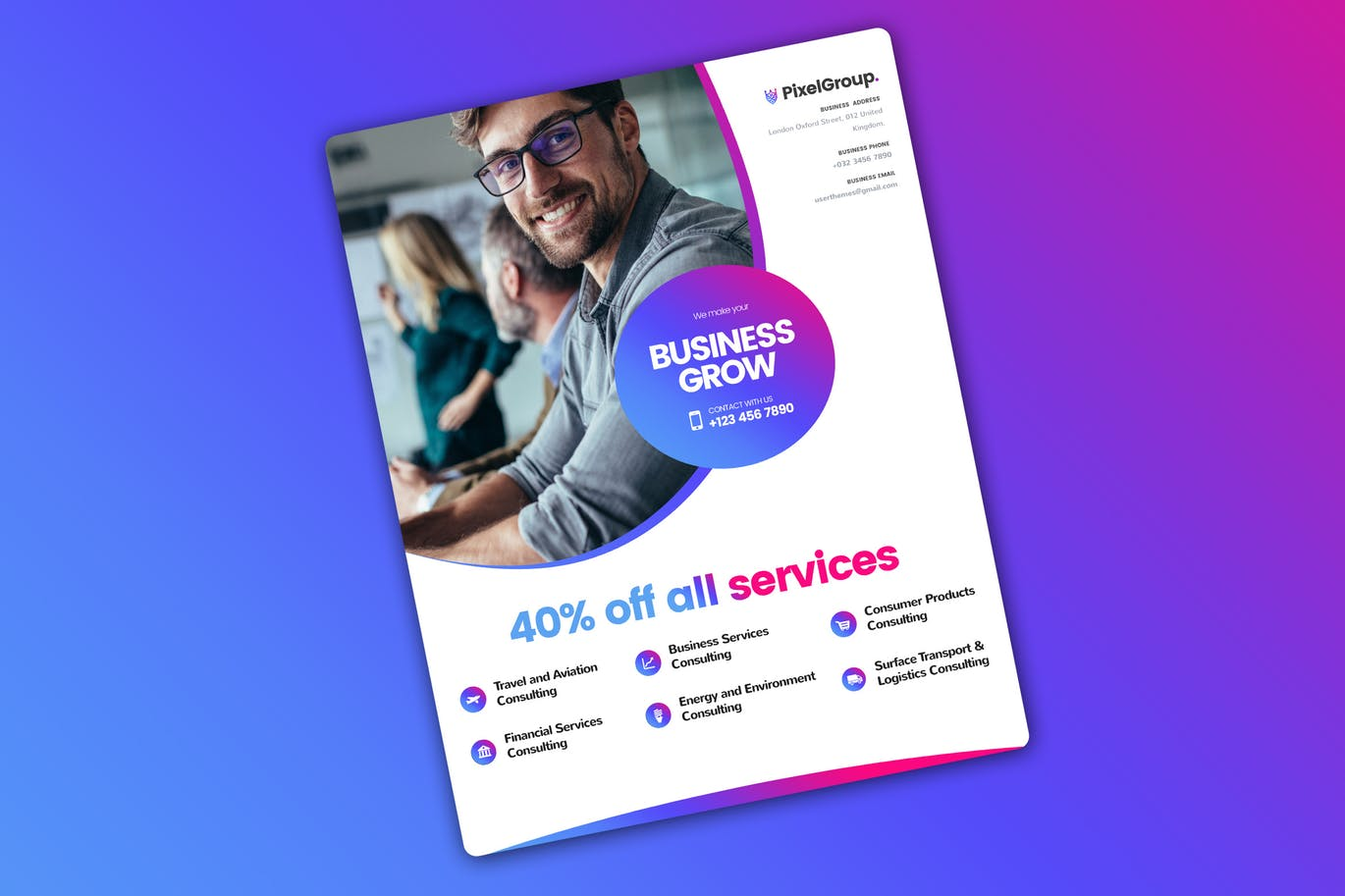 65 creative flyer templates for corporate business decolore business flyer template for freelancing companies fbccfo Choice Image