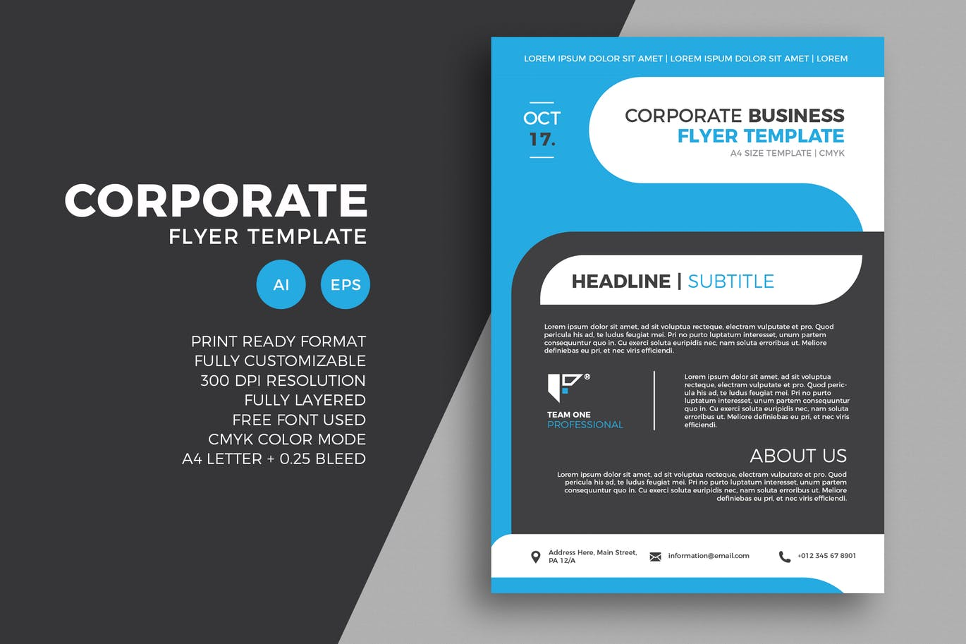 65 Creative Flyer Templates For Corporate Business Decolore