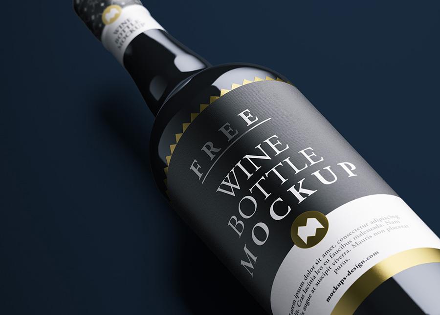 50+ Best Wine Bottle PSD Mockup Templates | Decolore Net