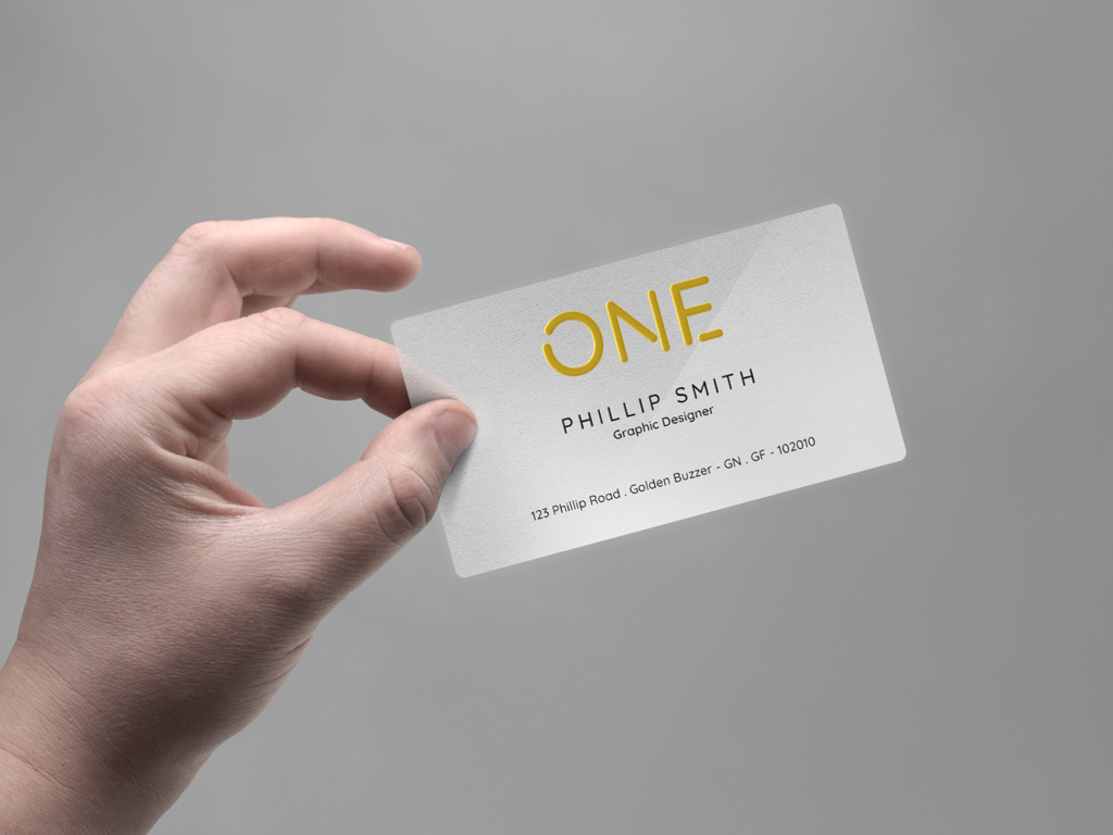Realistic Business Card In Hand Mockups