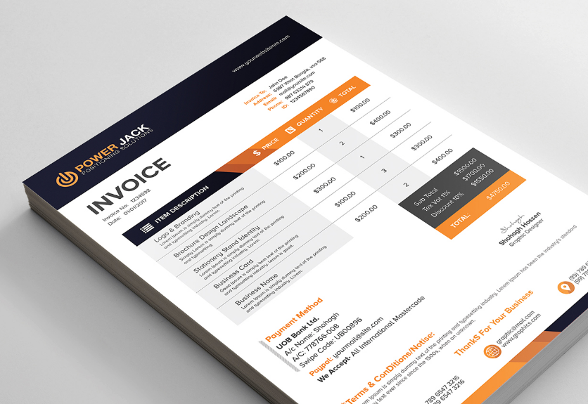 30 clean invoice templates for business decolore net