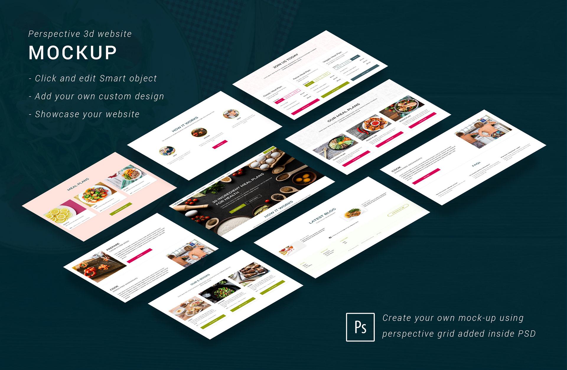 30+ Perspective Website Design PSD Mockups   Decolore Net