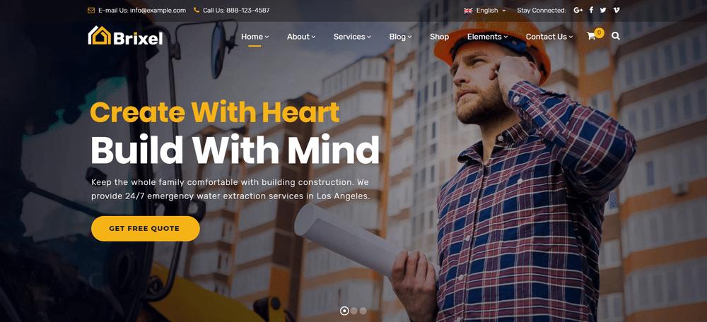 30+ Construction Company WordPress Themes | Decolore.Net