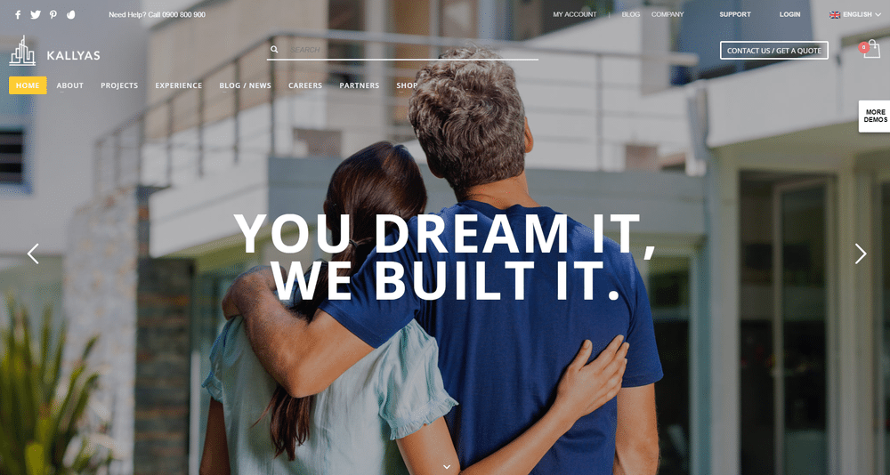 30+ Construction Company WordPress Themes 2019 | Decolore Net