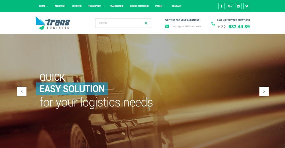 30+ Best Transportation & Logistics WordPress Themes 2019 | Decolore Net