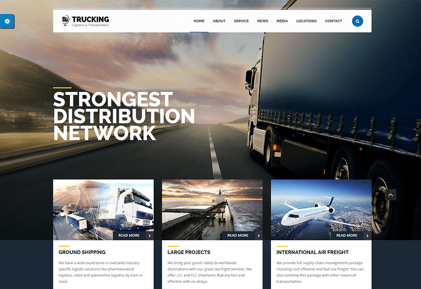 30+ Best Transportation & Logistics WordPress Themes 2019