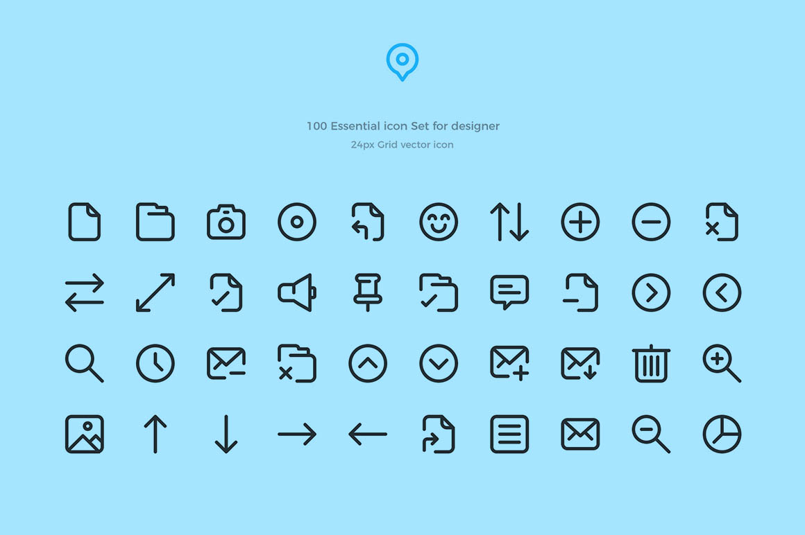 50+ Best Free Icons of 2018 | Decolore Net