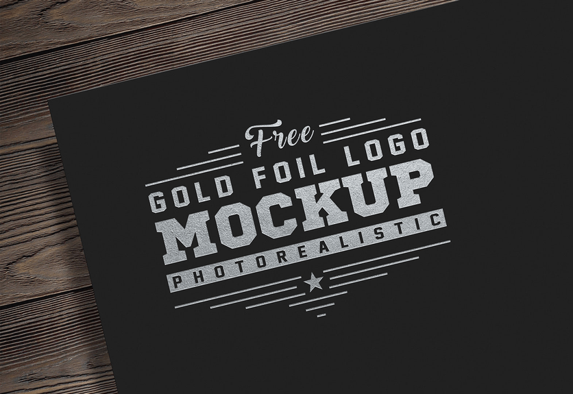 15  free foil logo mockup templates for design