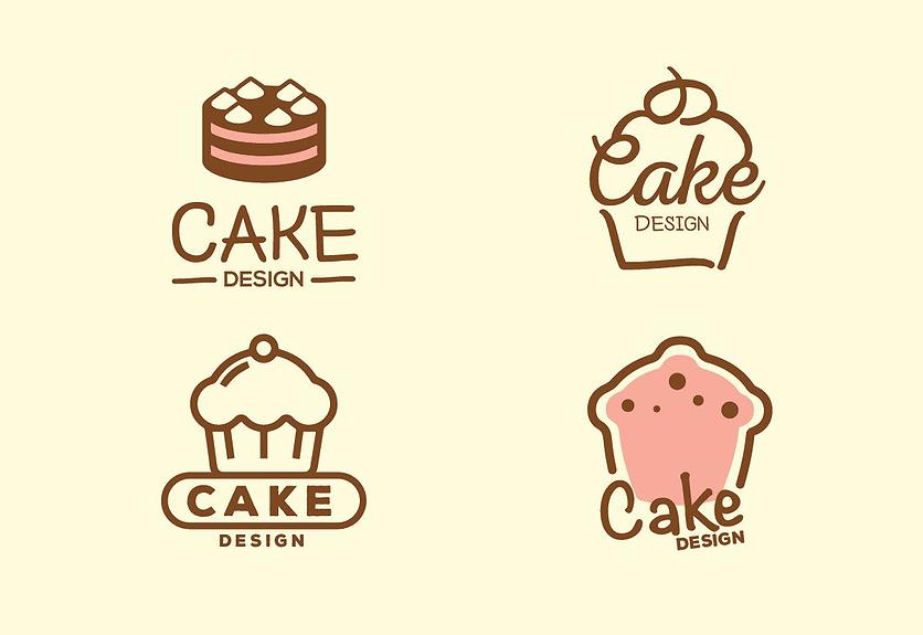 4 Free Cake Design Logos Bundle For Bakery Shop Decolore Net
