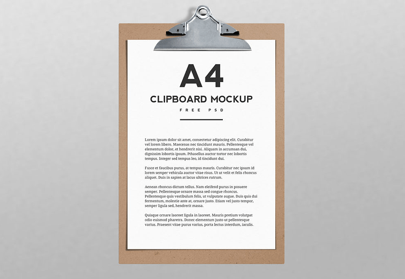 20  handsomely created clipboard psd mockup templates