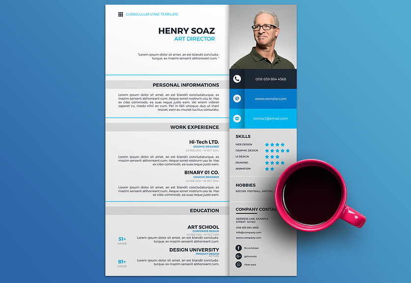 20 Free Colorful Resume Templates with Professional Design ...