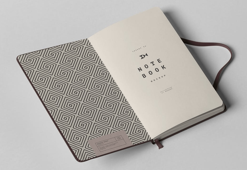 30  elegant notebook mockup design templates