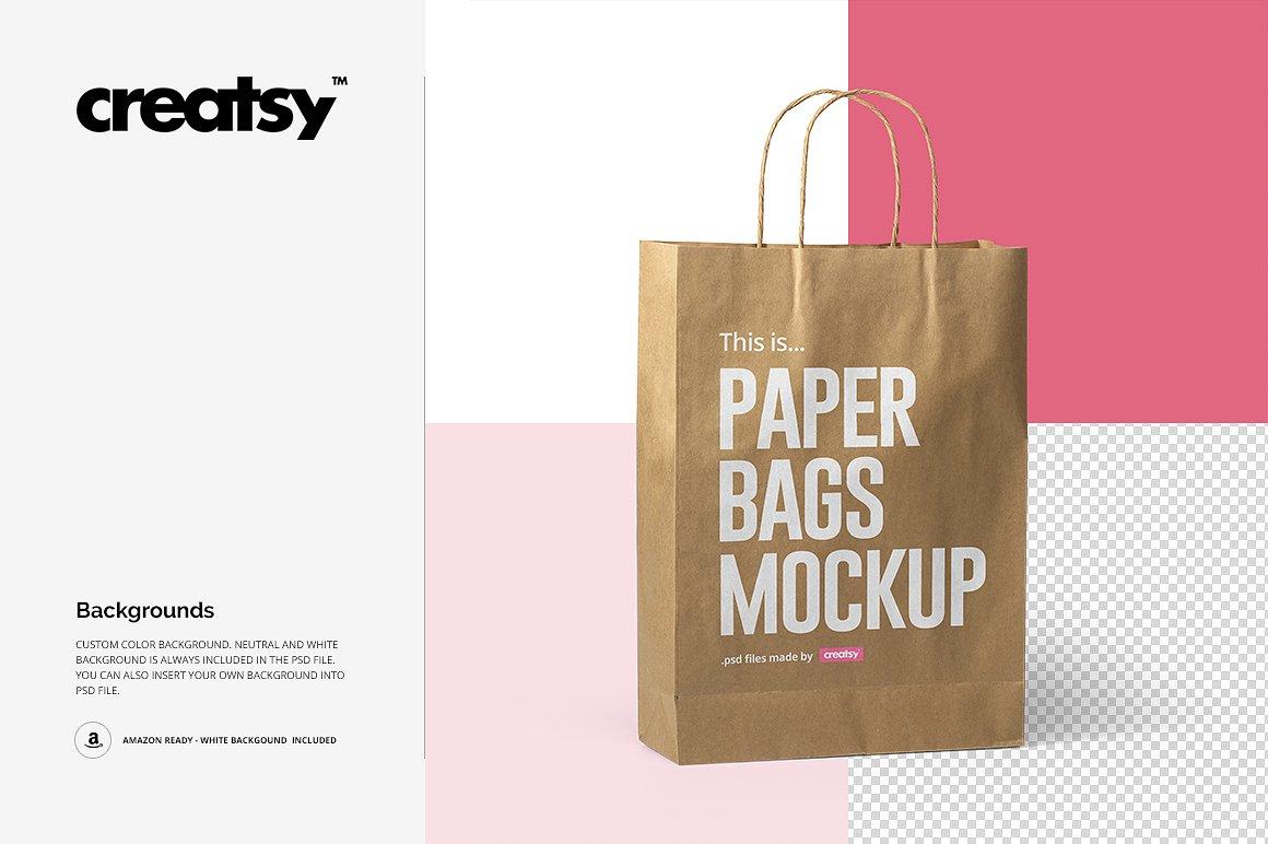 45 Versatile Paper Bag Psd Mockup Templates Decolore Net