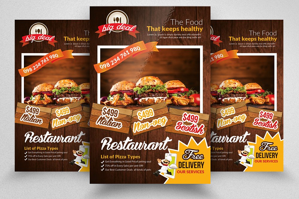 30 Delicious Food Restaurant Flyer Poster Templates Decolore