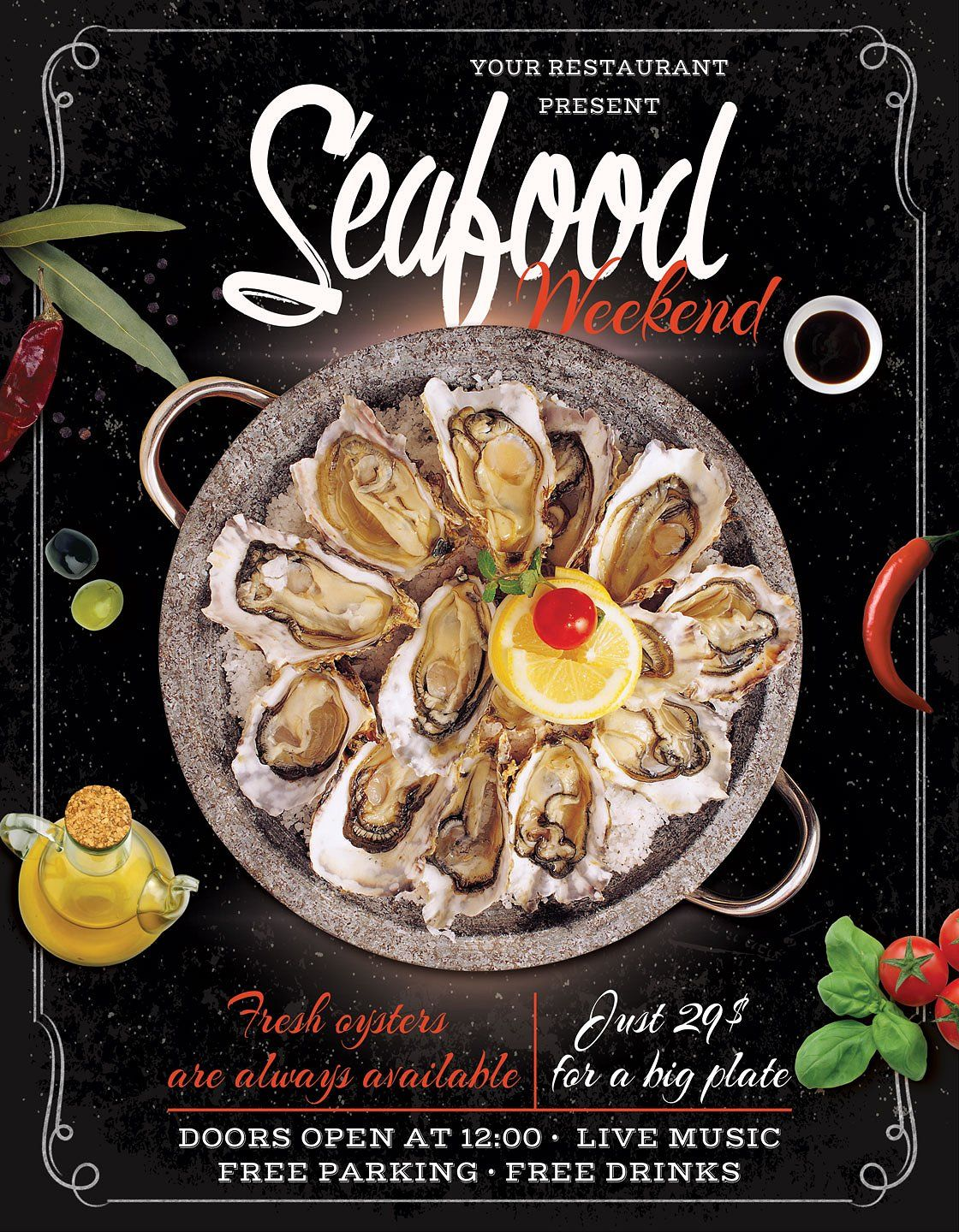 30  delicious food  u0026 restaurant flyer    poster templates