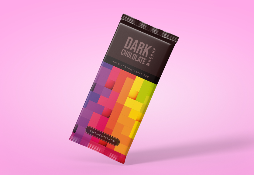 30  chocolate bar packaging psd mockups