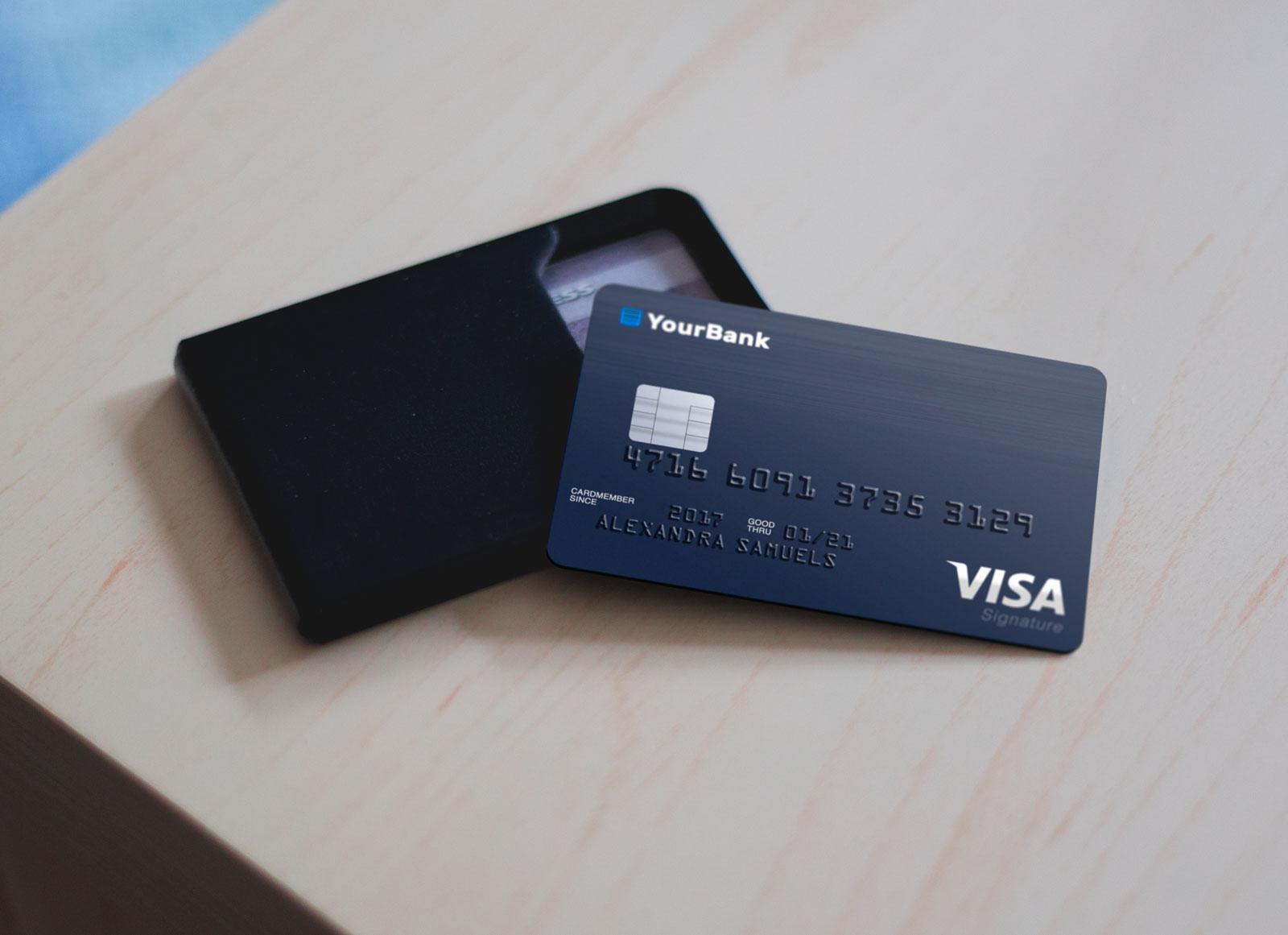 40 Excellent Credit Card Psd Mockup Templates Decolore