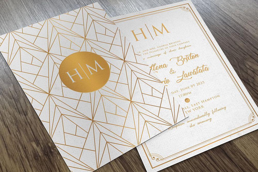 30 Elegant Wedding Invitation PSD Templates