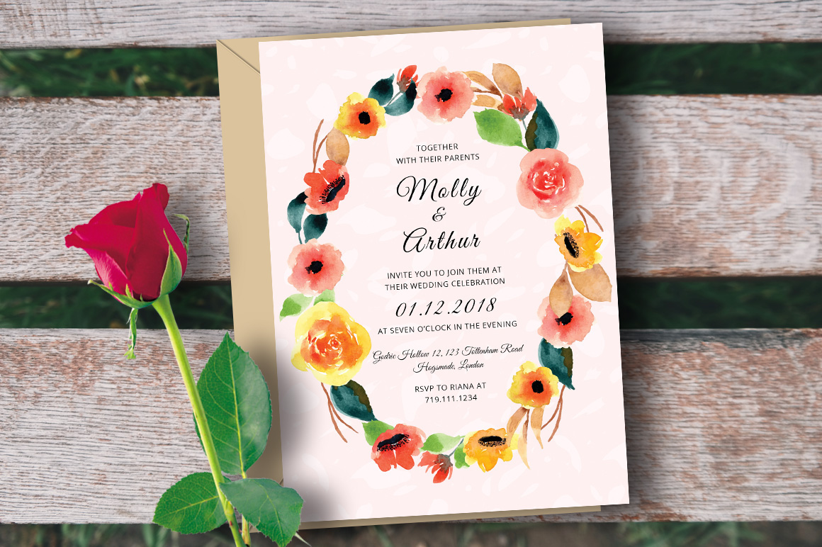 30 Elegant Wedding Invitation PSD Templates