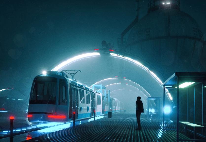spectacular futuristic scenes by mike winkelmann