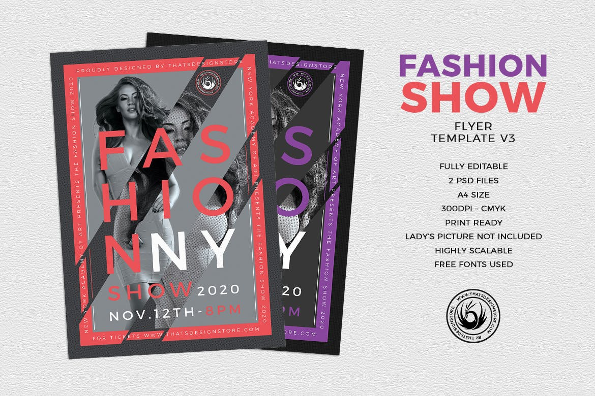 35 Vibrant Fashion Flyer Templates And Designs Decolore