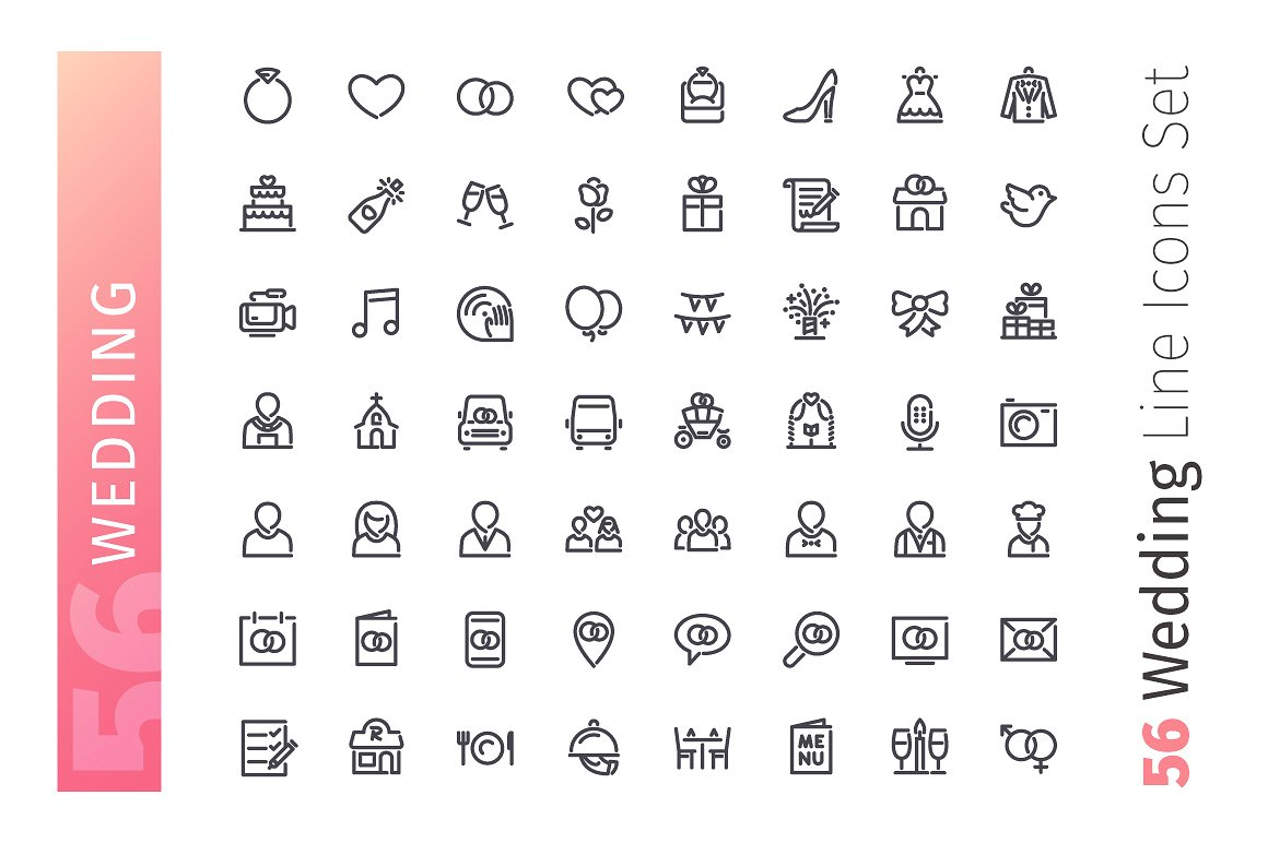 30+ Best Wedding Icons for Your Design Projects | Decolore Net