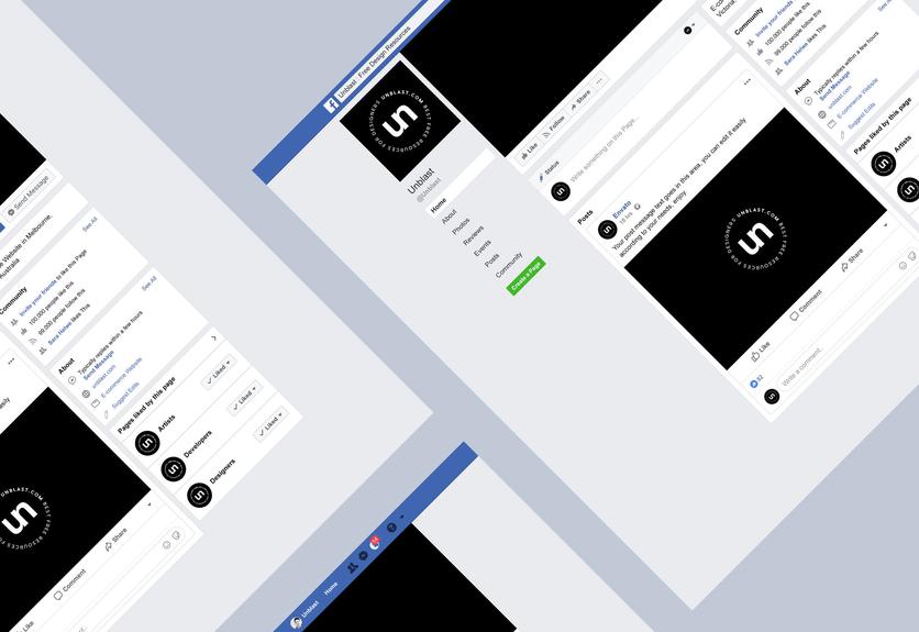 20+ Facebook Page Branding Mockup Templates | Decolore Net