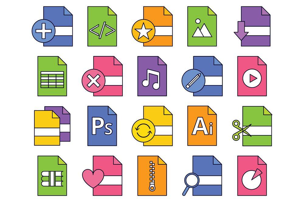 files-vector-free-icon-set