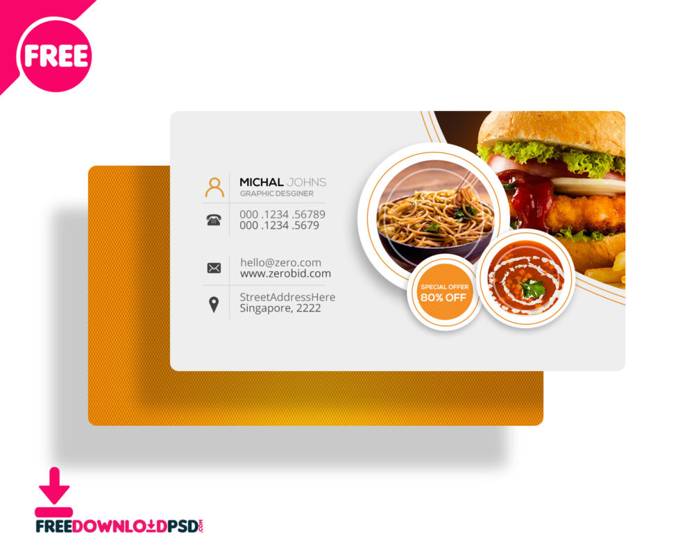30 Delicate Restaurant Business Card Templates Decolore Net