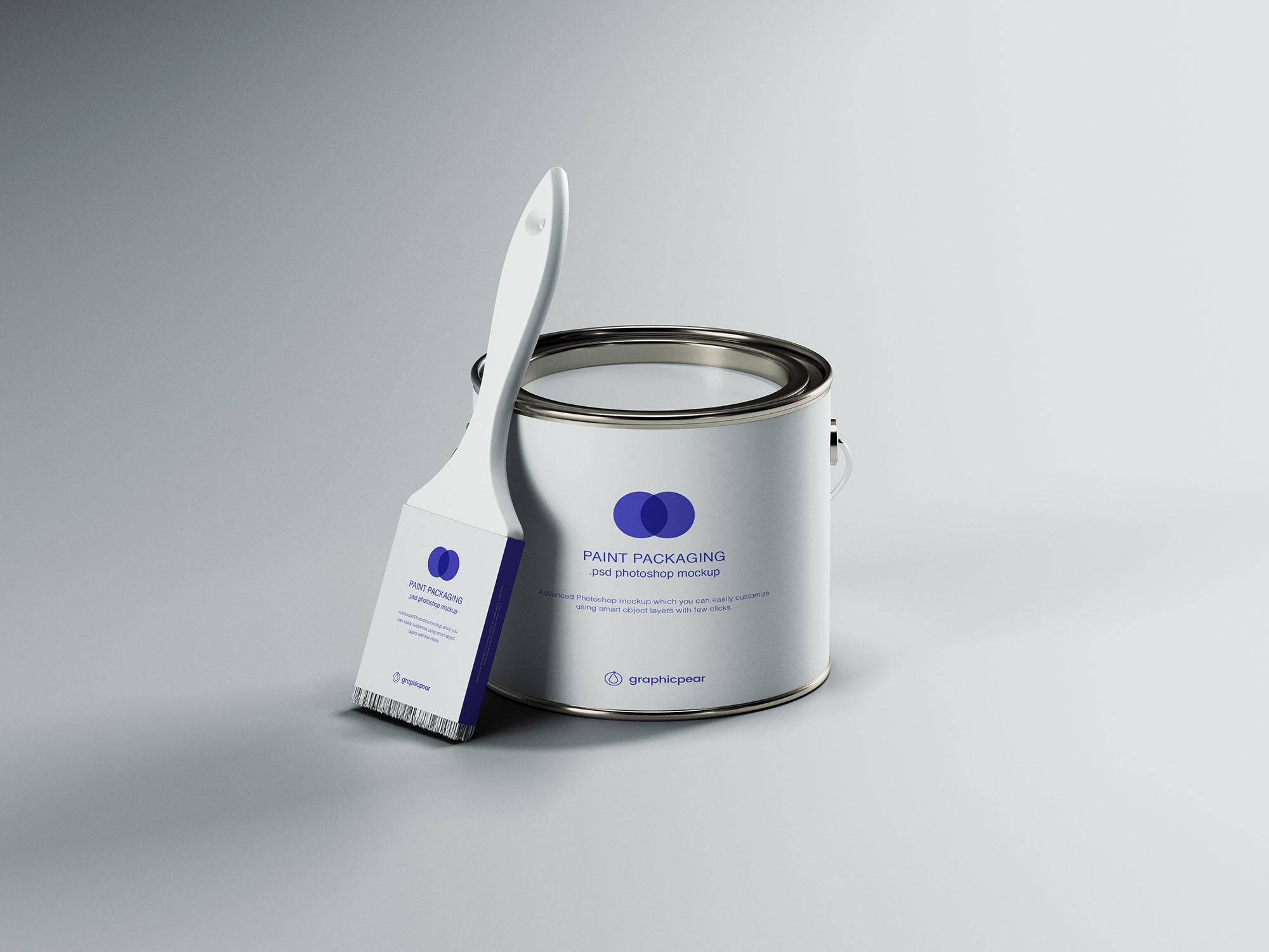 10 Paint Bucket Can Packaging Mockups Decolore Net