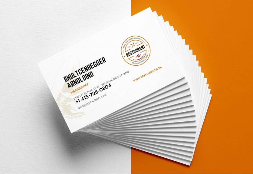 30 Delicate Restaurant Business Card Templates Decolore