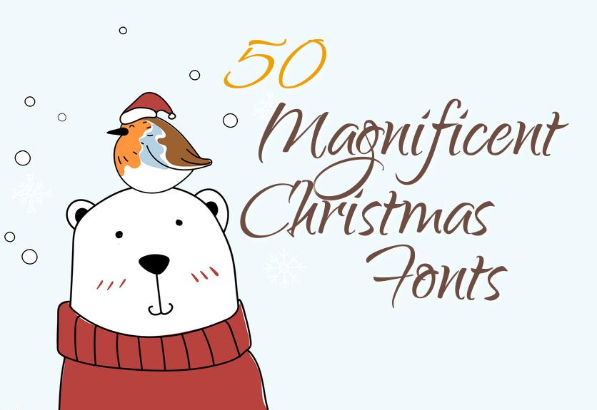 Christmas Fonts.50 Magnificent Christmas Fonts Decolore Net