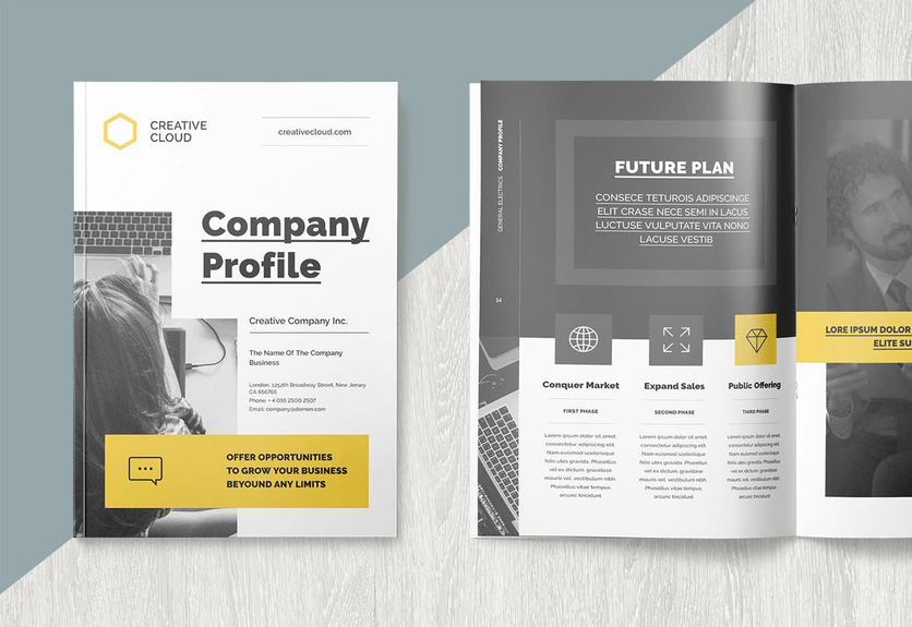 company profile indesign template free download