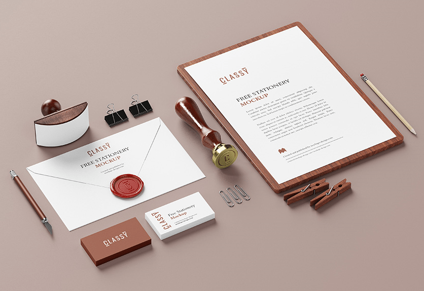 brand identity mockup psd free download