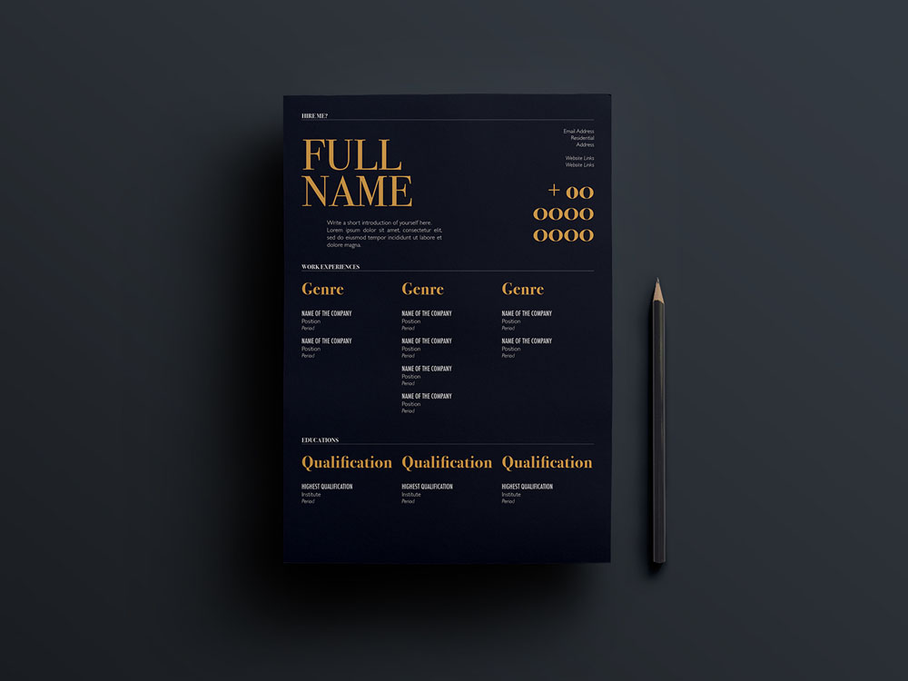 Here Is Free Creative Minimalist Resume Template For Job Seeker In Indesign File Format It Will Help You Make A Best Impression When Applying Your Next