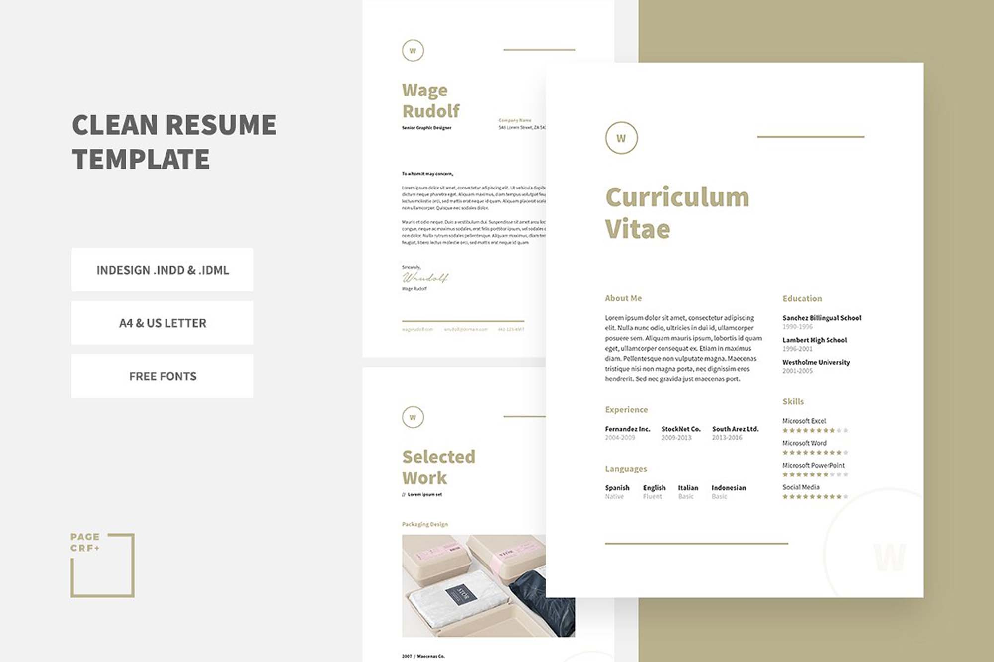 30  free creative resume templates for adobe indesign