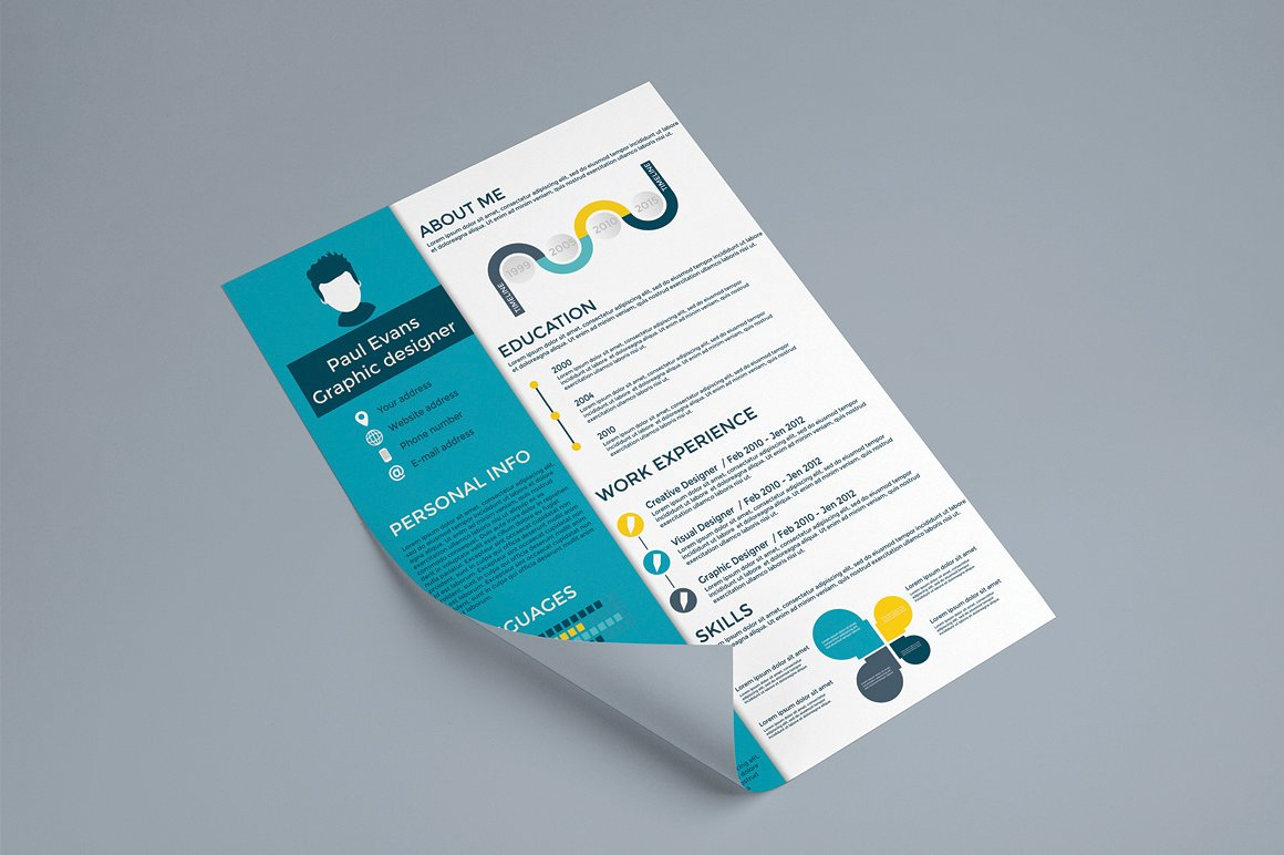 Infographics Resume Template Ai EPS PDF PSD