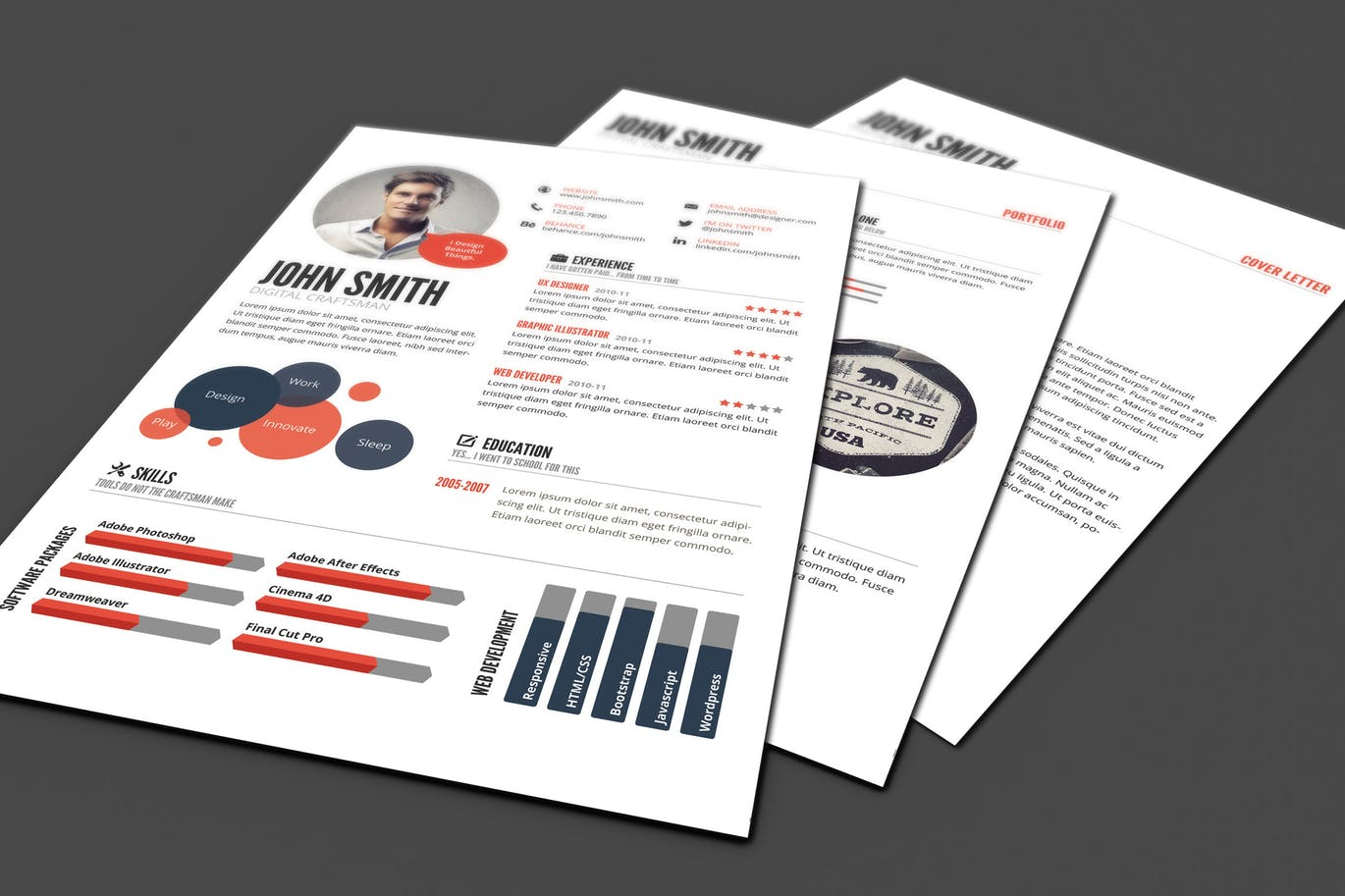 25+ Creative Infographic Resume/CV Templates | Decolore Net