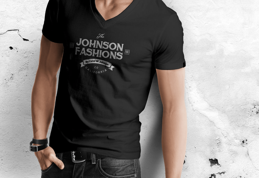 Collar T Shirt Mockup Front And Back Psd Free