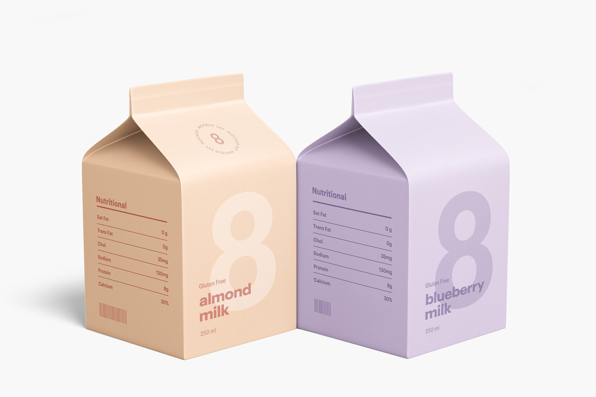 50 Milk Yogurt Packaging Psd Mockups Decolore Net